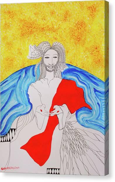 Jesus Messiah Second Coming Canvas Print