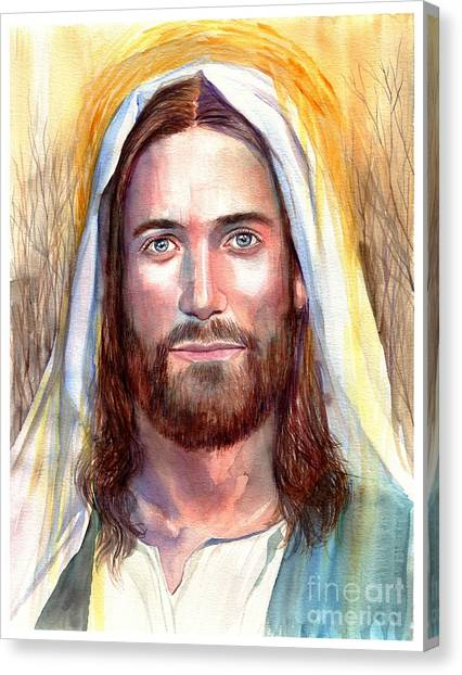 Biblical Canvas Print - Jesus Of Nazareth Painting by Suzann Sines