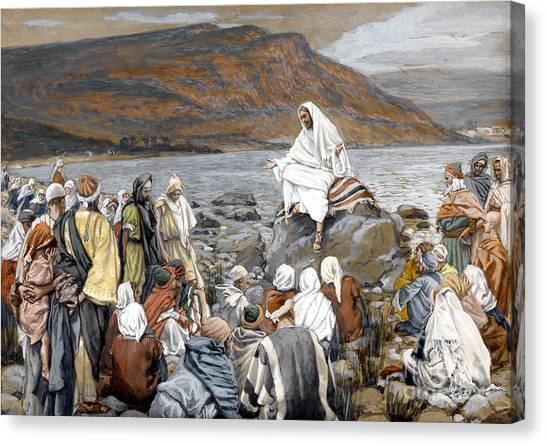 Messiah Canvas Print - Jesus Preaching by Tissot