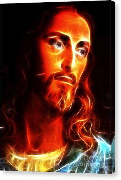 Messiah Canvas Print - Jesus Thinking About You by Pamela Johnson
