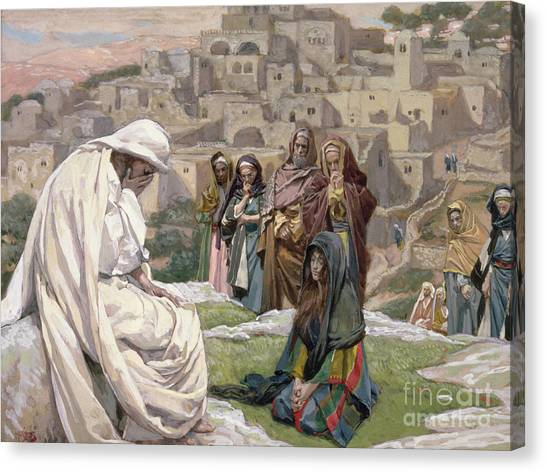 Jerusalem Canvas Print - Jesus Wept by Tissot