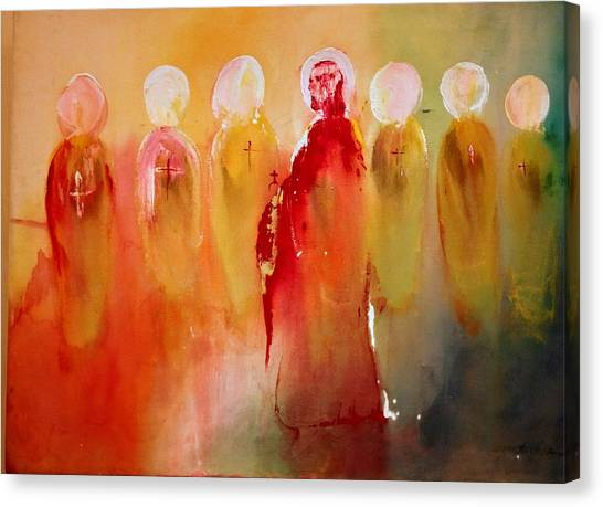 Jesus With His Apostles Canvas Print