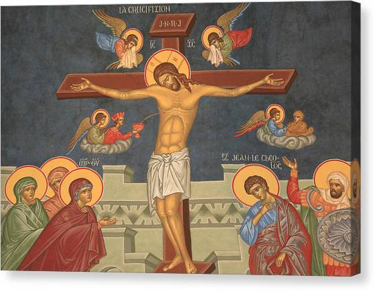 Orthodox Art Canvas Print - Jesus's Crucifixion by Unknown