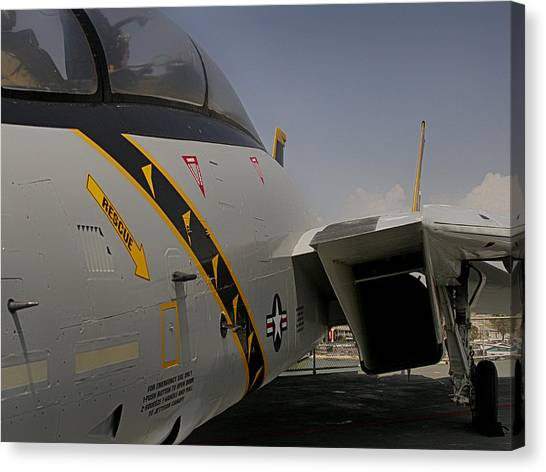 John Mccain Canvas Print - Jet Fighter Close Up by Charles McKelroy