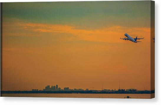 Jetblue Canvas Print - Jet Orange by Jessica Graham