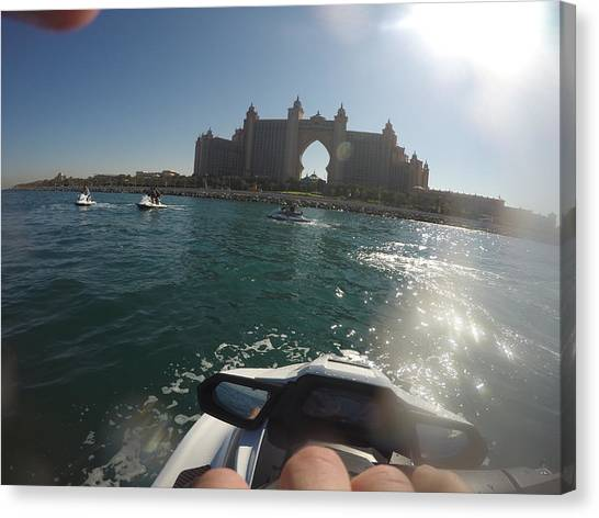 Jet Skis Canvas Print - Jet Ski @ Atlantis by Ardit Istrefi