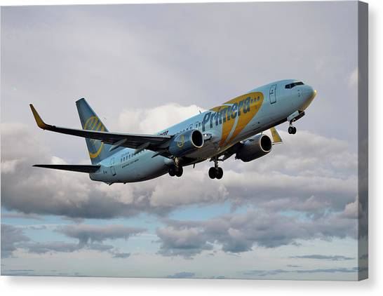 Airlines Canvas Print - Jet2 Boeing 737-8q8 by Smart Aviation