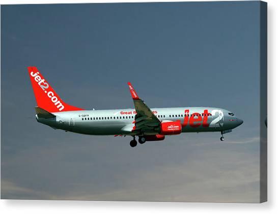 Boeing Canvas Print - Jet2 Boeing 737-8z9 by Smart Aviation