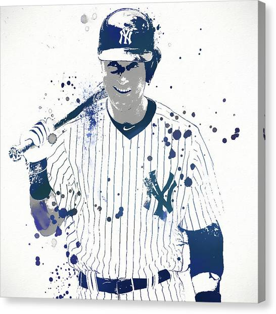 Derek Jeter Canvas Print - Jeter by Dan Sproul