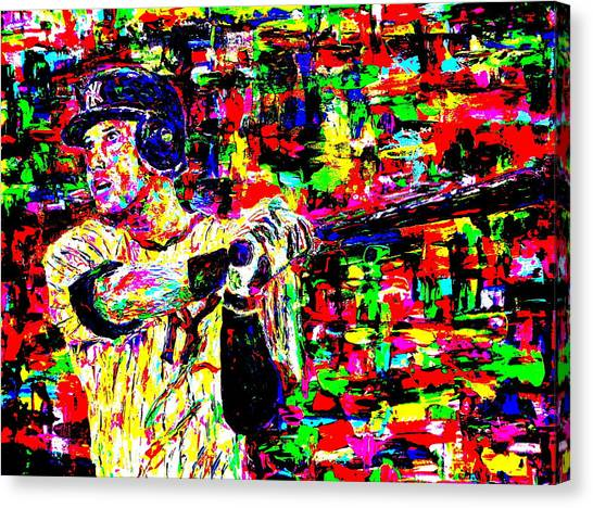 Derek Jeter Canvas Print - Jeter by Mike OBrien
