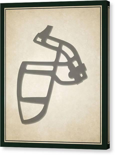 New York Jets Canvas Print - Jets Face Mask by Joe Hamilton