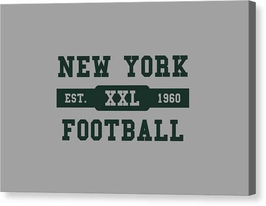 New York Jets Canvas Print - Jets Retro Shirt by Joe Hamilton