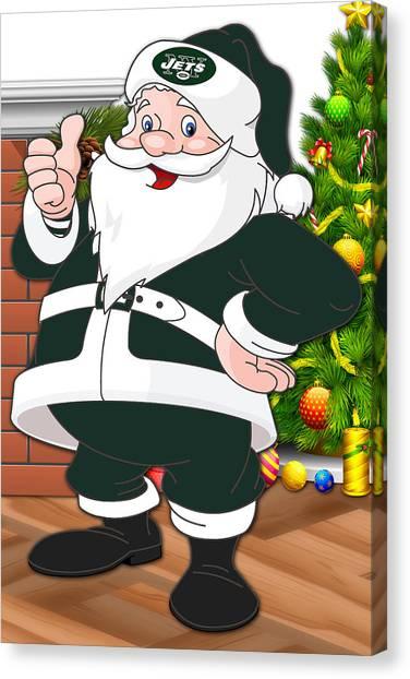 New York Jets Canvas Print - Jets Santa Claus by Joe Hamilton