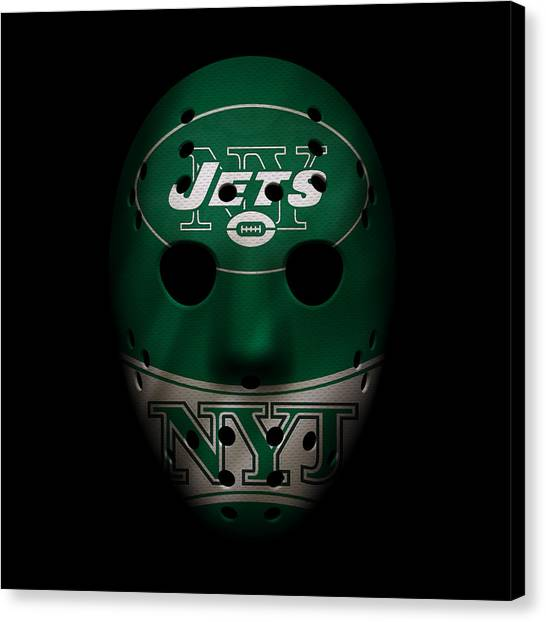 New York Jets Canvas Print - Jets War Mask 2 by Joe Hamilton