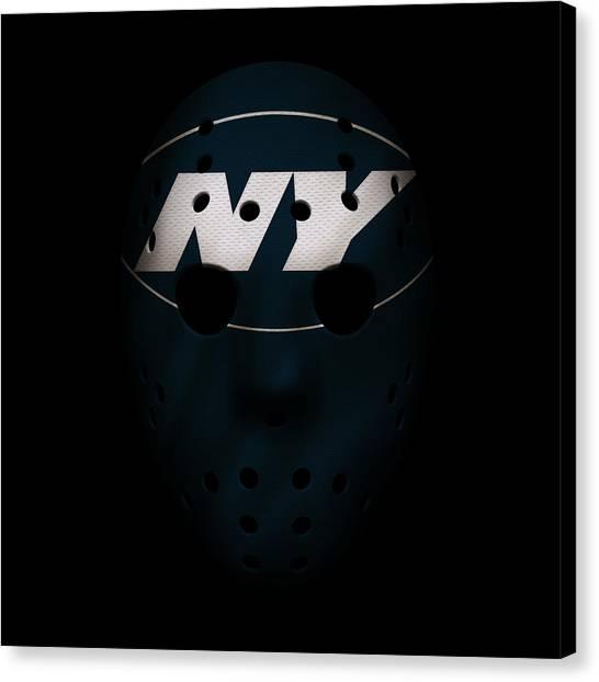 New York Jets Canvas Print - Jets War Mask 3 by Joe Hamilton