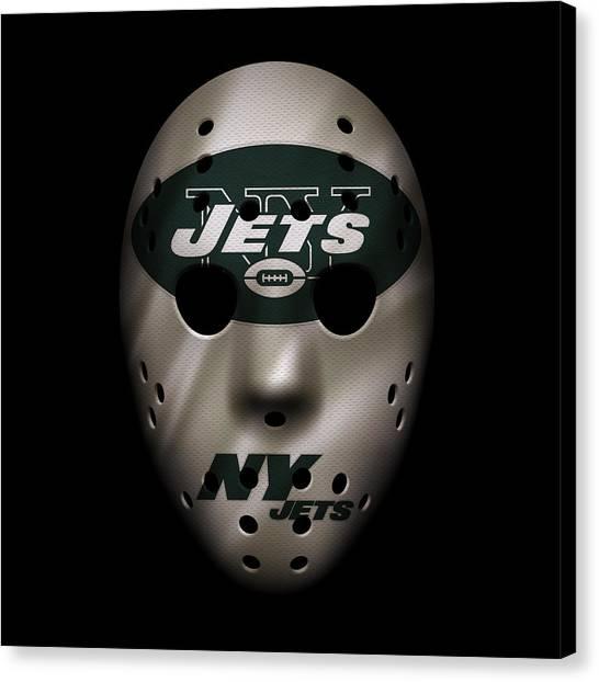 New York Jets Canvas Print - Jets War Mask by Joe Hamilton