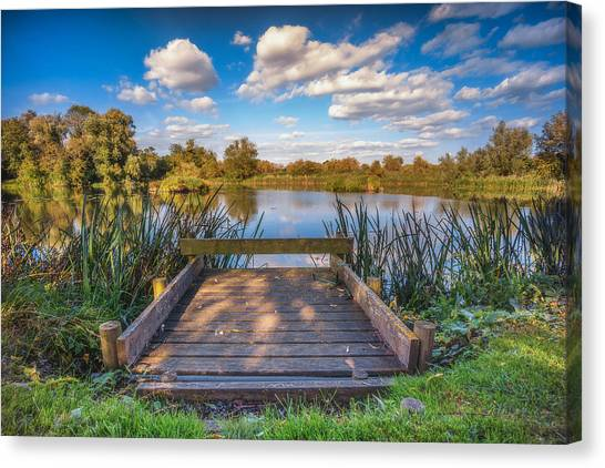 Canvas Print featuring the photograph Jetty by James Billings