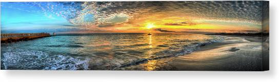 Jetty Sunrise Panorama Canvas Print