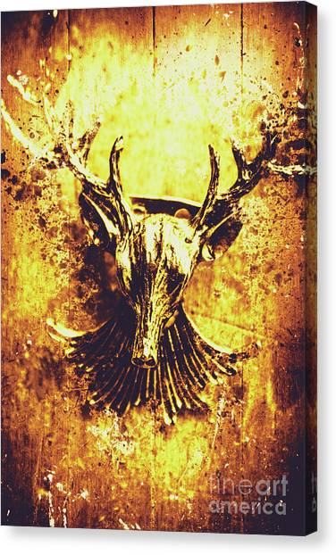 Stag Canvas Print - Jewel Deer Head Art by Jorgo Photography - Wall Art Gallery