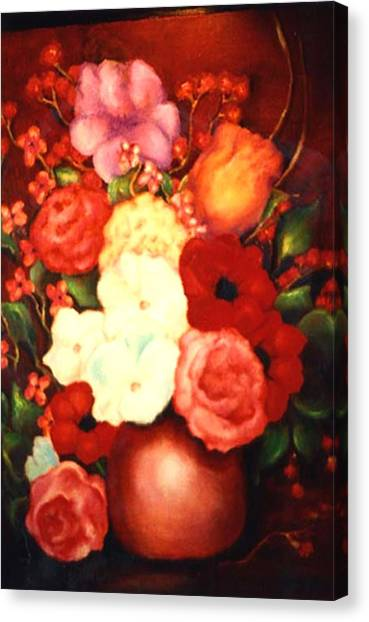 Jewel Flowers Canvas Print