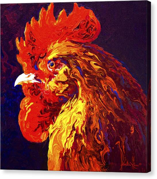 Hens Canvas Print - Jewel by Marion Rose