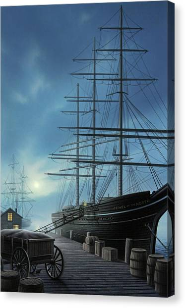 Ships Canvas Print - Jewel Of The North by Jerry LoFaro