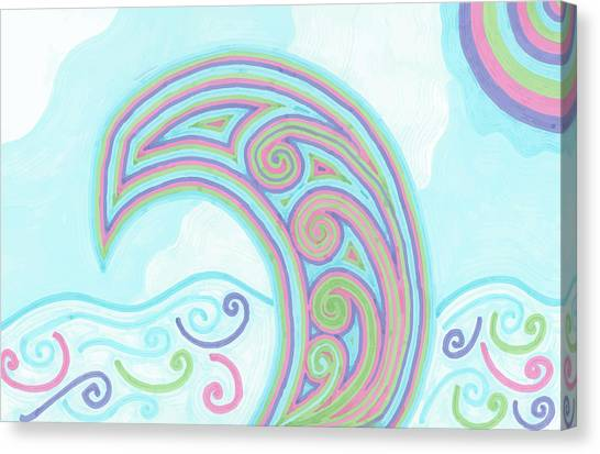 Jewel Sea Canvas Print