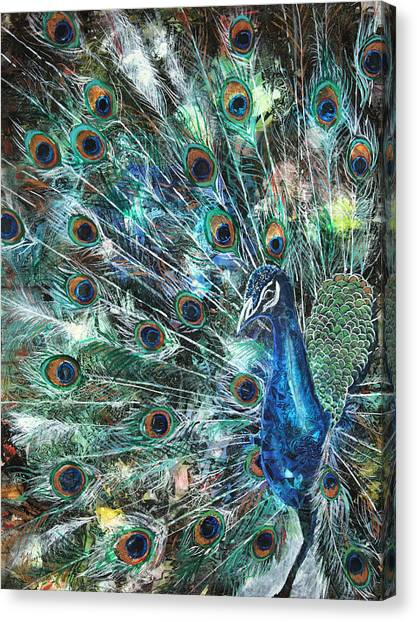 Iridescent Canvas Print - Jeweled by Patricia Allingham Carlson