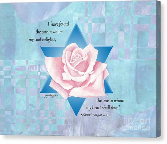 Jewish Wedding Blessing Canvas Print