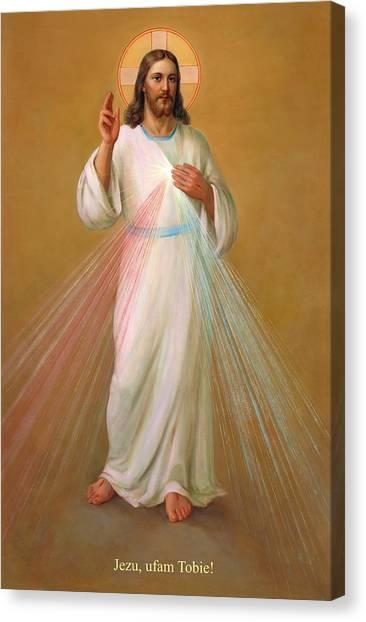 Jezu Ufam Tobie - Jezus Chrystus Canvas Print
