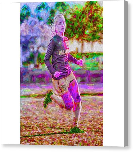 Sports Canvas Print - @jfassbinder @valpo #valpo #jfassbinder by David Haskett II