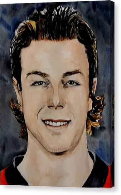 Ottawa Senators Canvas Print - J.g. Pageau by Betty-Anne McDonald