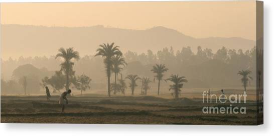 Jharkhand Early Morning Canvas Print by Angie Bechanan