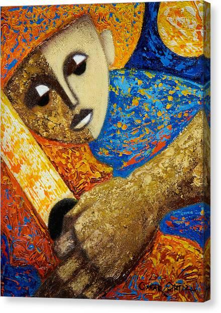 Puerto Canvas Print - Jibaro Y Sol by Oscar Ortiz