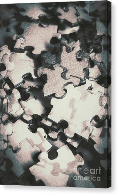 Distort Canvas Print - Jigsaws Of Double Exposure by Jorgo Photography - Wall Art Gallery