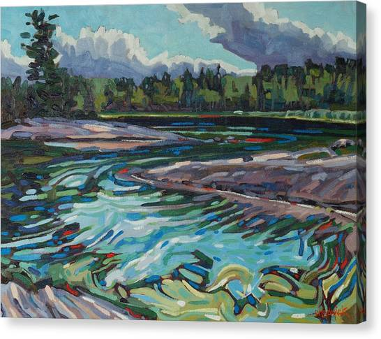 Jim Afternoon Rapids Canvas Print