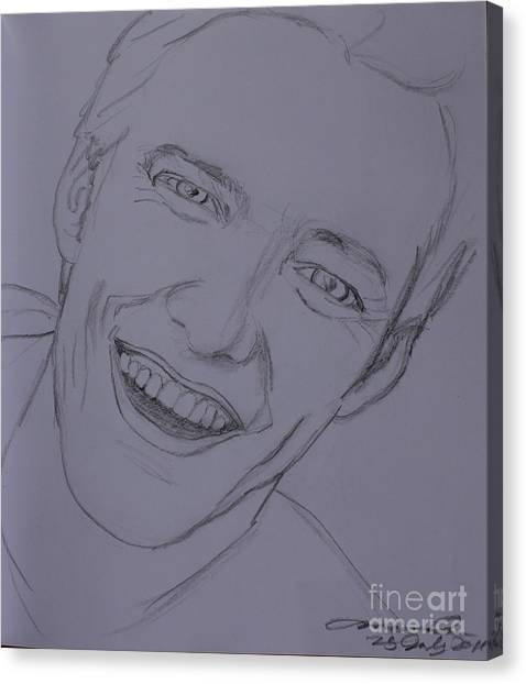 Jim Carrey Canvas Print - Jim by Amanda Li