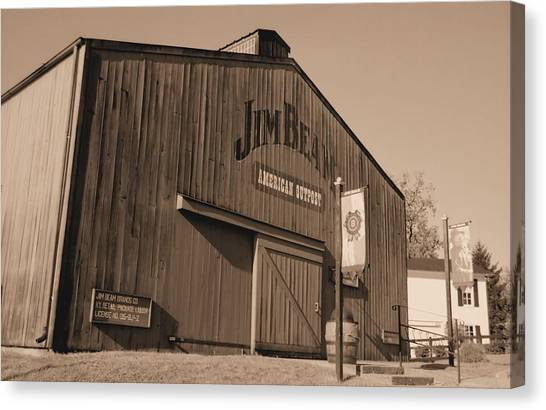 Jim Beam Distillery Sepia Canvas Print