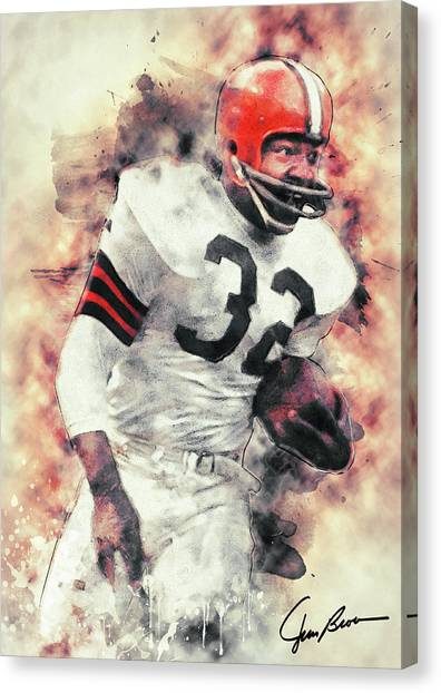Johnny Manziel Canvas Print - Jim Brown by Zapista