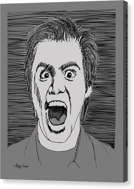 Jim Carrey Canvas Print - Jim Carrey  by Real ARTIST SINGH