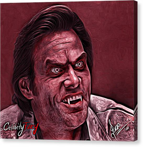 Jim Carrey Canvas Print - Jim Carrey by Gene Spino