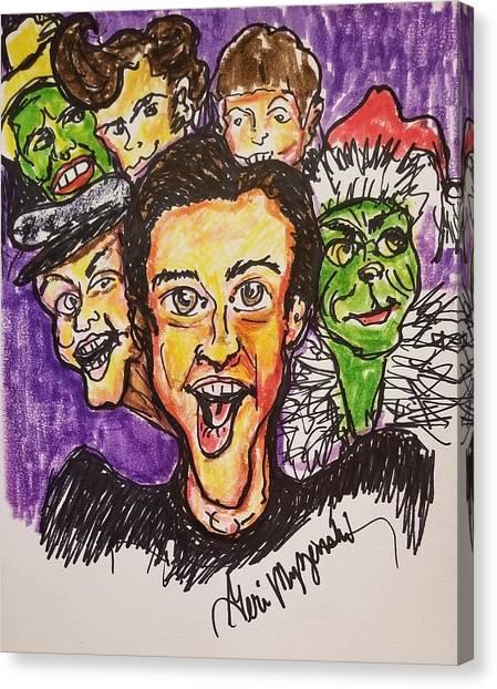 Jim Carrey Canvas Print - Jim Carrey by Geraldine Myszenski