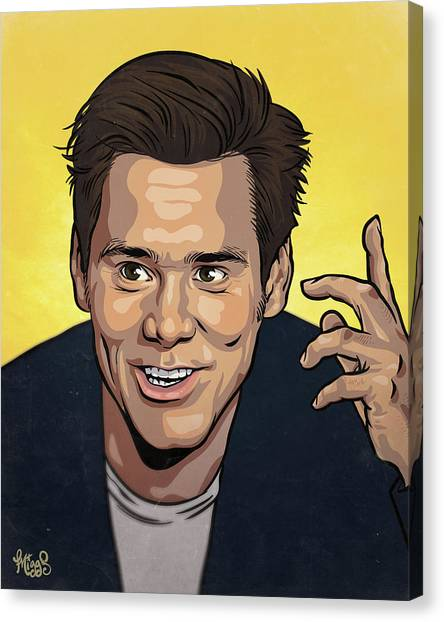 Jim Carrey Canvas Print - Jim Carrey by Miggs The Artist