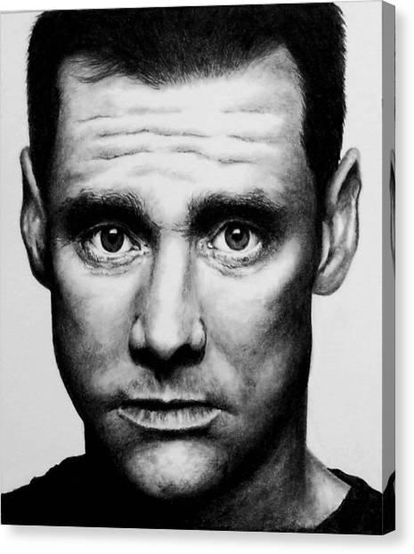 Jim Carrey Canvas Print - Jim Carrey by Rick Fortson