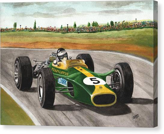 Jim Clark Natural Born Racer Canvas Print