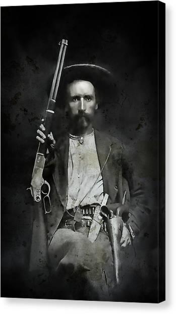 Texas Rangers Canvas Print - Jim Hawkins Texas Ranger  C. 1870 by Daniel Hagerman