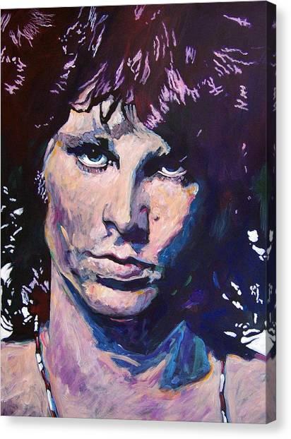 Lizards Canvas Print - Jim Morrison The Lizard King by David Lloyd Glover