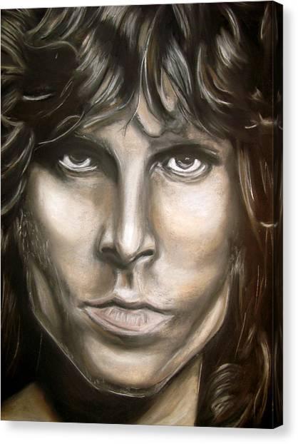 Jim Morrison Canvas Print by Zach Zwagil