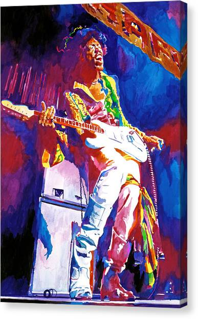 Jimi Hendrix Canvas Print - Jimi Hendrix - The Ultimate by David Lloyd Glover