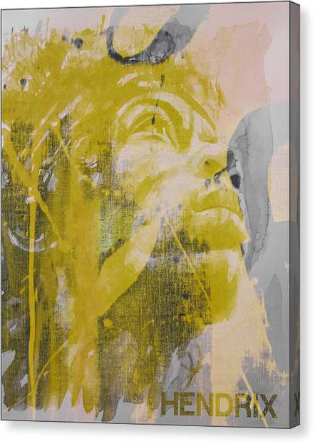 Jimi Hendrix Canvas Print - Jimi Hendrix Art  by Paul Lovering